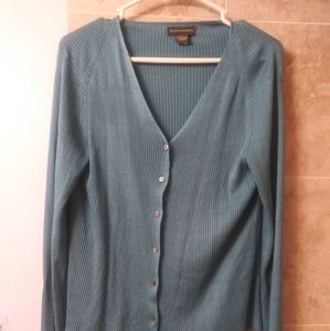 Banana Republic L cardigan sweater blue button up
